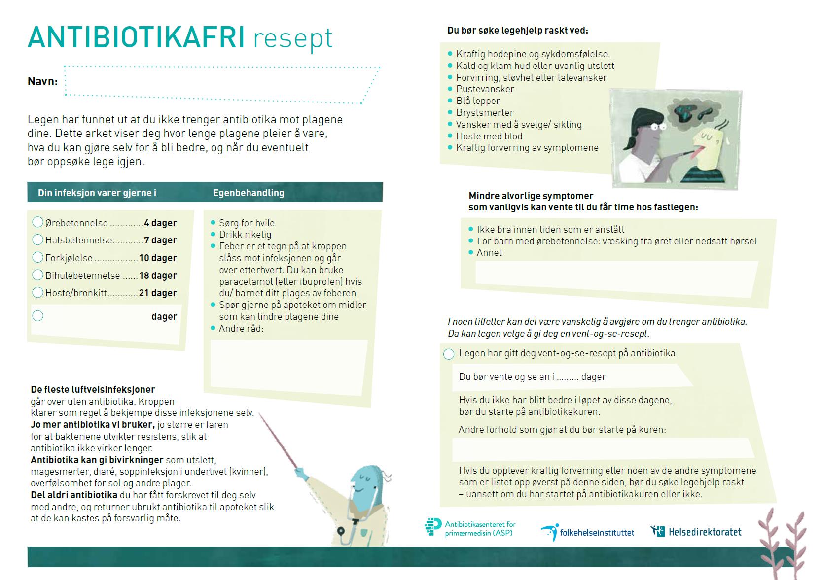 Antibiotikafri resept - norsk