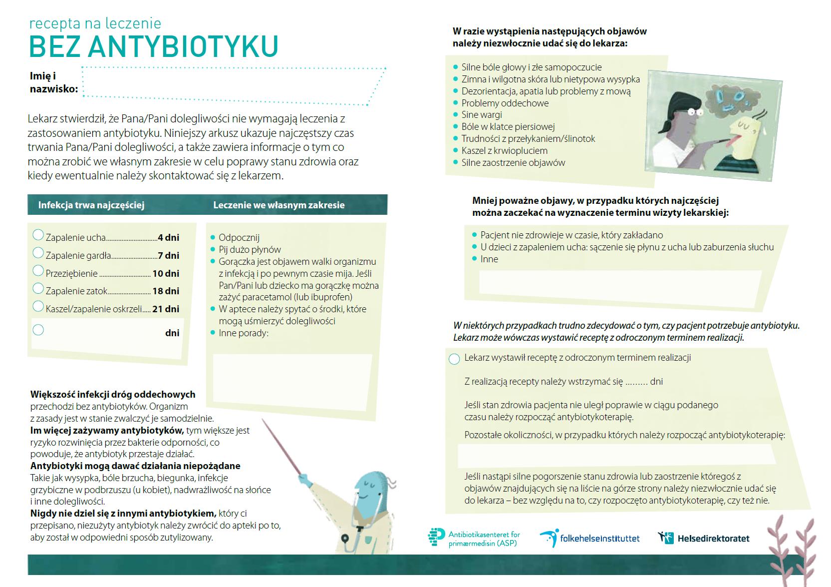 Antibiotikafri resept - Polsk